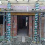 Eingangsbereich mit zwei Rundsstützen